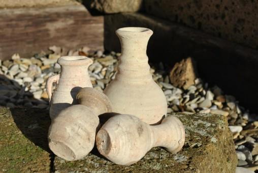 Amphoren,4er Set,Handarbeit,ca.10-15 cm Hoch,Tunesien,rustikal, Landhausstil