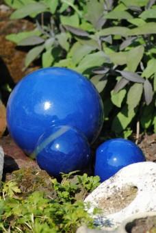 Dekokugel,Steingut,wunderschönes blau