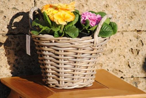 Weidenkorb, sehr stabil, bepflanzbar, naturbelassen, 23,5cm