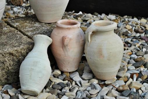 Amphoren im 3er Set,Terracotta,Tunesische Handarbeit,ca.18cm hoch
