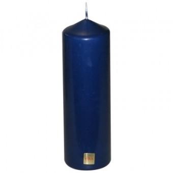 Stumpenkerze,blau,210 x 70 mm - 2 Stück - Eika Stumpen Kerze