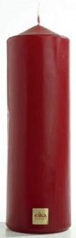 Stumpenkerze,bordeaux-rot,210 x 70 mm - 2 Stück - Eika Stumpen Kerze