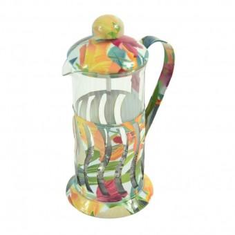 Kaffeebereiter,French press,2-3 Tassen,hübsches Design,Glas/Metall,350ml