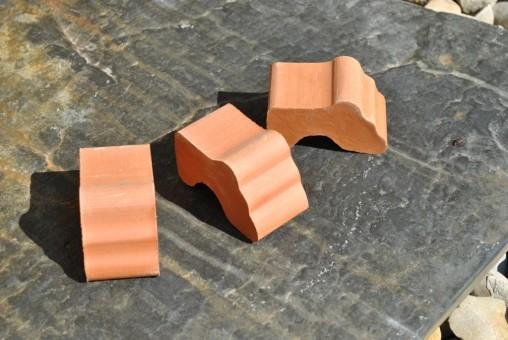 Kübelfüsse, Untersetzer, terracotta, 7cm, 9er Set