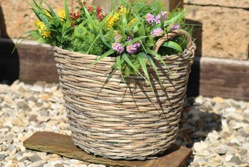 Weidenkorb,naturbelassen,mit Drahtgeflecht verstärkt,40cm