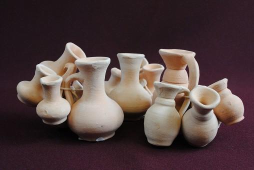 Mini-Amphoren,10 Stück,Terracotta,Tunesische Handarbeit,ca.5cm hoch