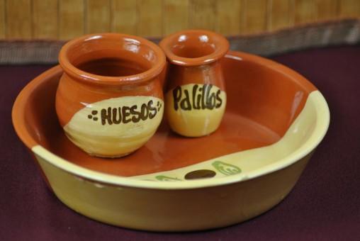 Olivenschalen,spanisch,handbemalt,braun glasier,2er Set