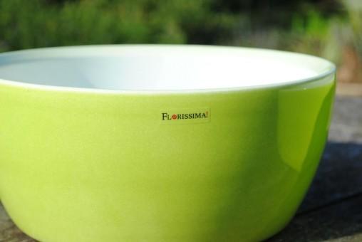 Keramik-Schale, limettengrün, 2er Set