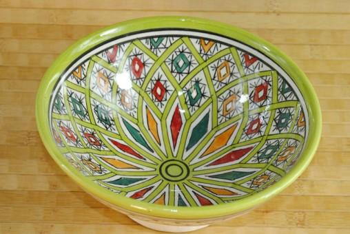 Keramikschale,tunesisches Kunsthandwerk,handbemalt
