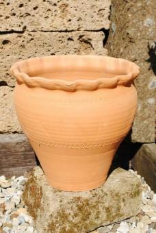 Terracottavase aus Spanien,Andalusien,50cm hoch,Handarbeit