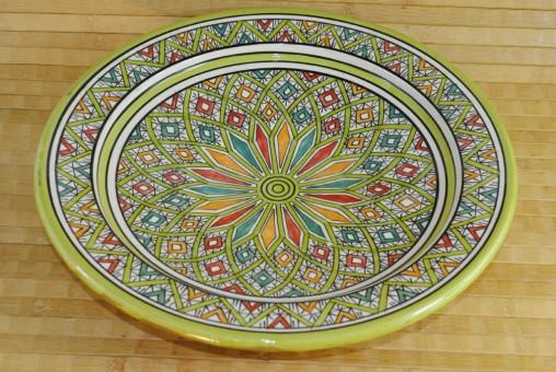 Keramikteller,tunesisches Kunsthandwerk,handbemalt