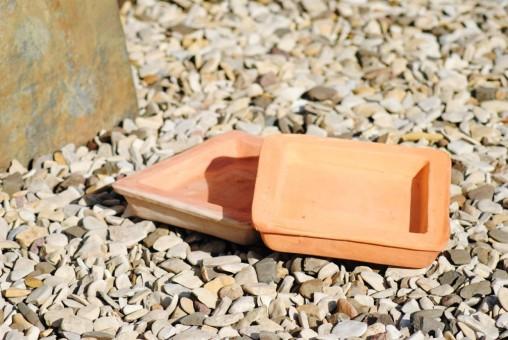 Untersetzer,eckig, handgefertigt, 2er Set, Terracotta, 22cm