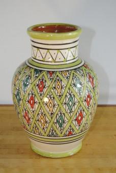Keramikvase,tunesisches Kunsthandwerk,handbemalt