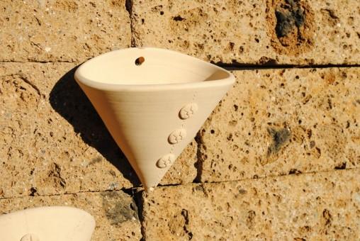 Wandgefäß, Blumentopf, helles Terracotta, 22cm, 2er Set