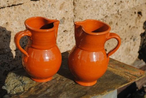 Weinkrüge aus Spanien,2er Set,Handarbeit aus Andalusien