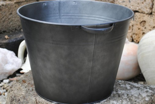Zinkwanne,anthrazit/schwarz,Pflanzgefäß,Miniteich,etc,40cm Durchmesser,Art114196