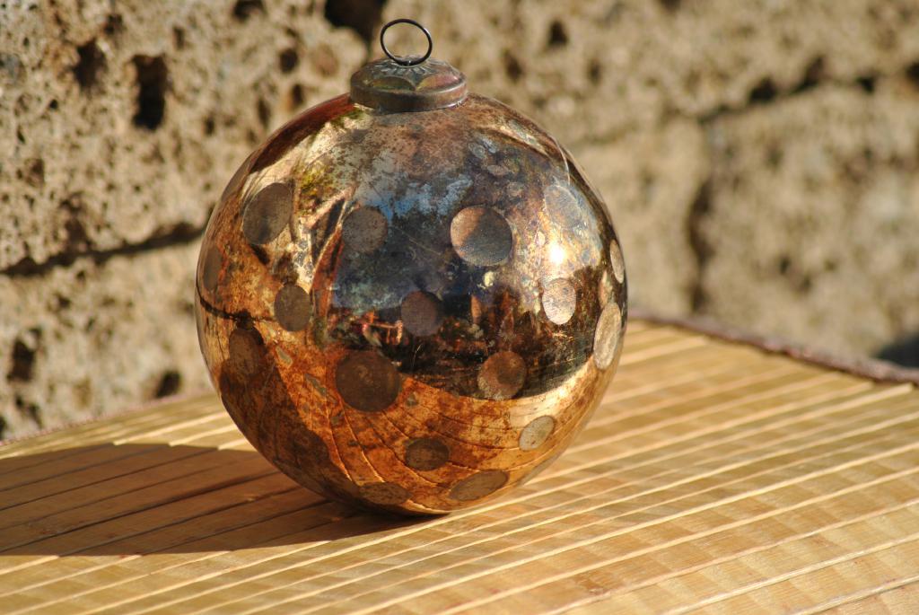 kunert keramik glaskugel zum h ngen antik kupfer 15cm. Black Bedroom Furniture Sets. Home Design Ideas