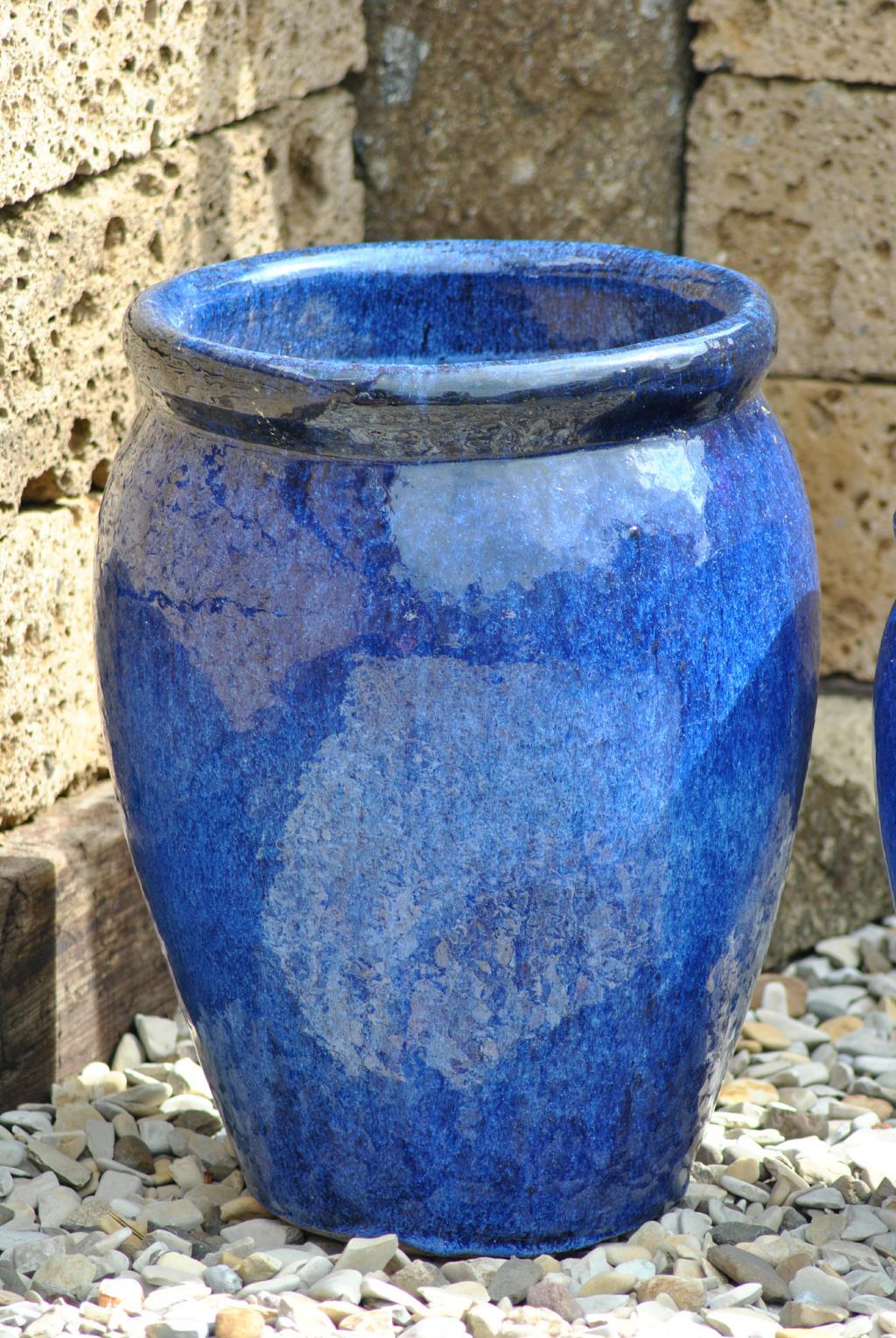 kunert keramik pflanzk bel vase blau frostfest. Black Bedroom Furniture Sets. Home Design Ideas