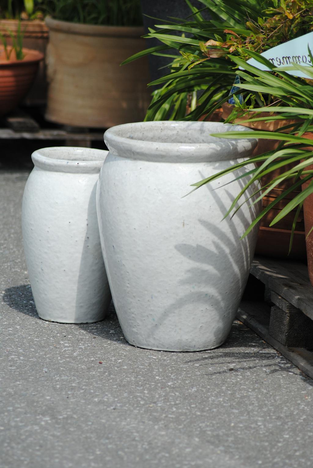 kunert keramik pflanzk bel vase antik wei frostfest. Black Bedroom Furniture Sets. Home Design Ideas